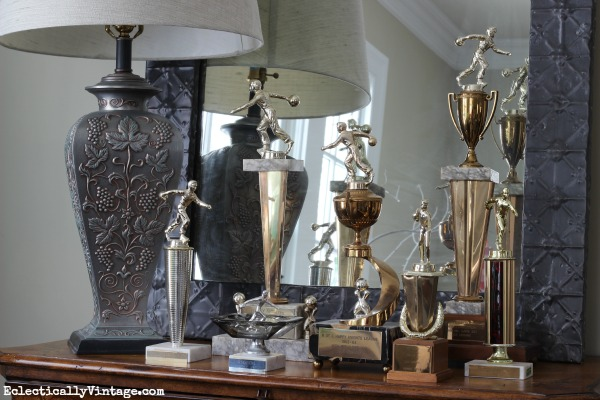 Vintage trophies - so many ways to repurpose them eclecticallyvintage.com