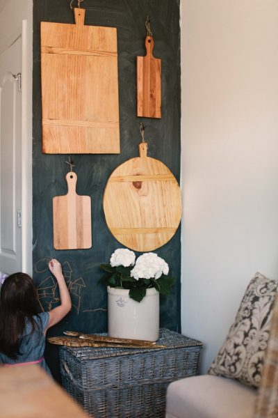 What a fun cutting board collection - love the way it's displayed! kellyelko.com