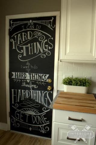 Chalkboard door eclecticallyvintage.com