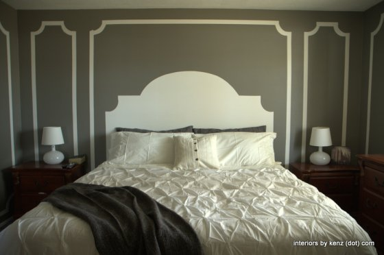 Create faux moulding and headboard eclecticallyvintage.com