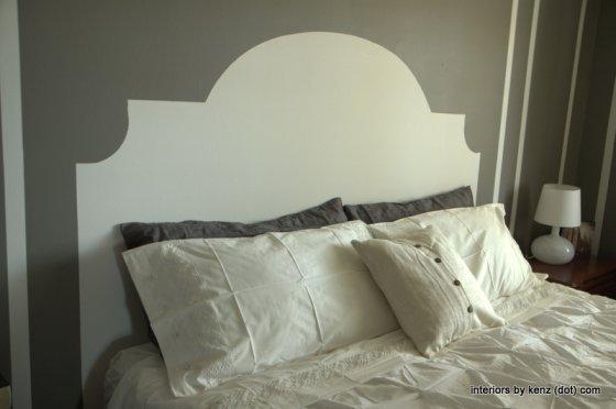 Make a faux painted headboard kellyelko.com