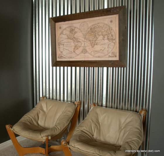 How to make a corrugated metal wall eclecticallyvintage.com