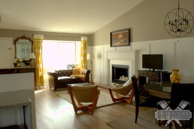 Love the board and batten walls & that chandelier kellyelko.com