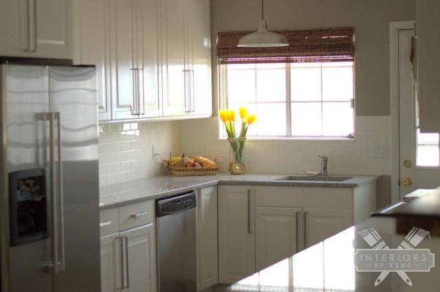 White kitchen - love the light kellyelko.com