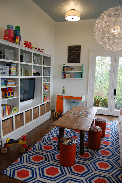 Fun kids area - love the Ikea light! eclecticallyvintage.com