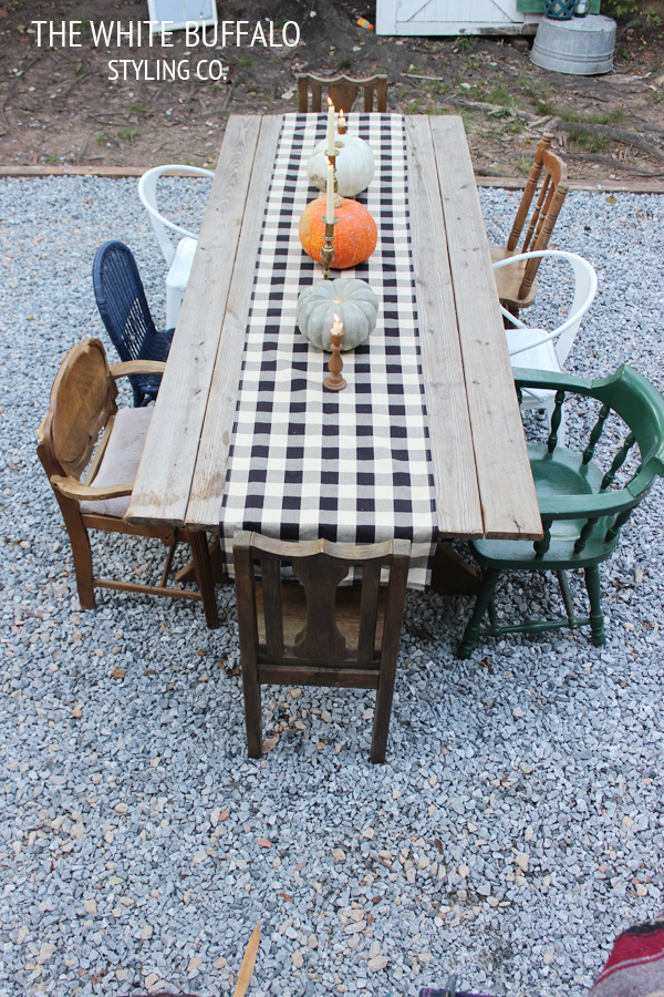 Eclectic outdoor table & mismatched chairs kellyelko.com