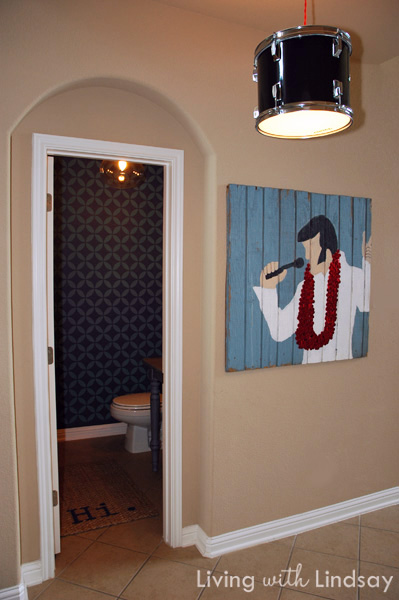 Elvis has left the building - love this DIY art eclecticallyvintage.com