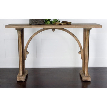 Reclaimed wood console table - the arch really makes it special!