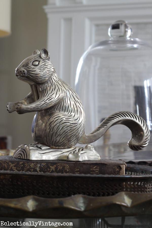 Vintage Godinger Silver Art Company squirrel nutcracker eclecticallyvintage.com