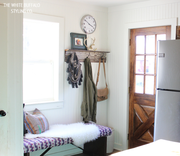 Eclectic Home Tour - kitchen mudroom kellyelko.com