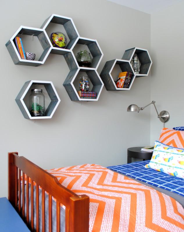Honeycomb shelves kellyelko.com