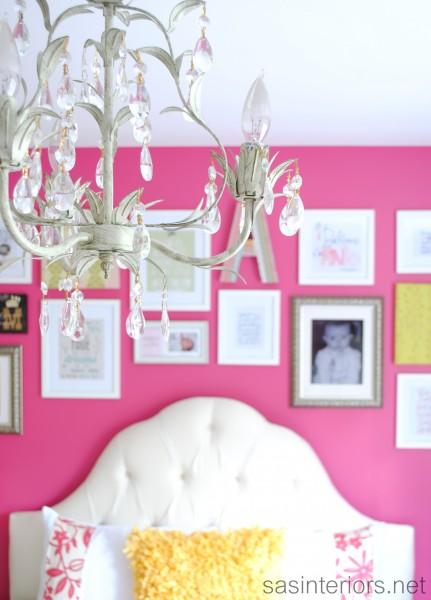Girls pink bedroom kellyelko.com