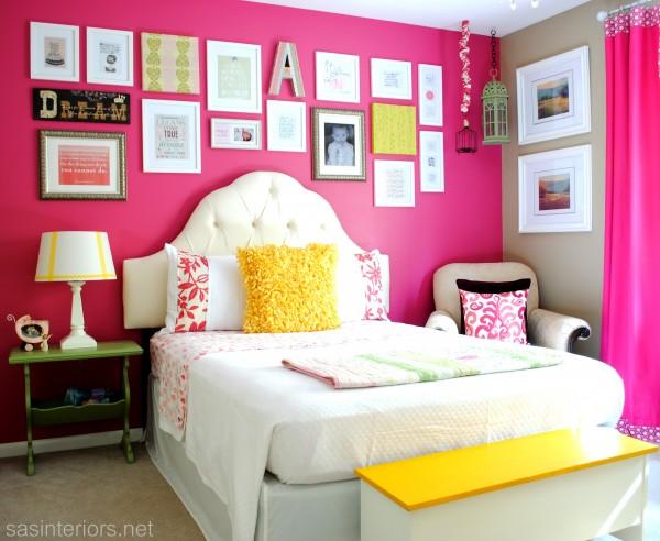 Pink girls bedroom kellyelko.com