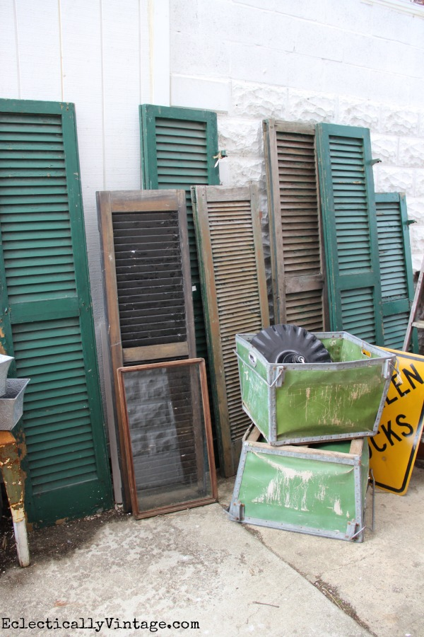 Antique shutters eclecticallyvintage.com