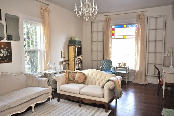 Vintage filled living room and home tour eclecticallyvintage.com