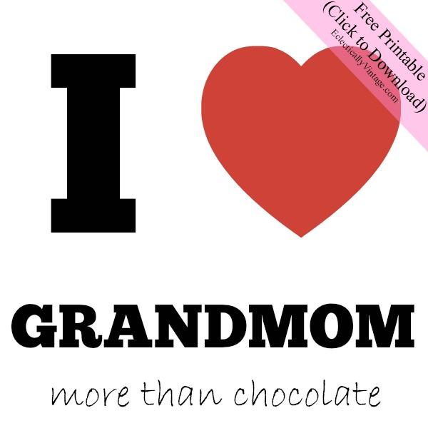 I Heart Grandmom Free Printable Gift Tags kellyelko.com