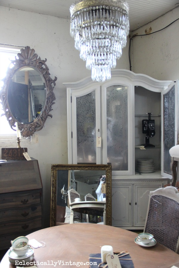 Antique mirrored armoire eclecticallyvintage.com