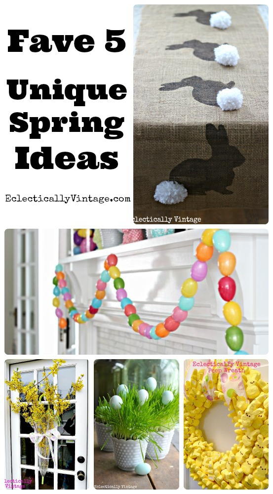 5 Favorite Simple Spring Crafts - these are so unique! eclecticallyvintage.com