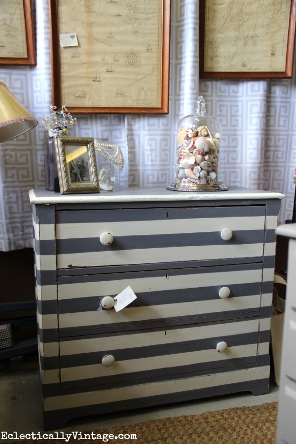 Striped dresser eclecticallyvintage.com