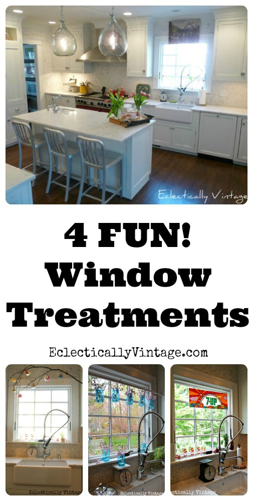 Four Unique Window Treatments! See the same window four different ways! kellyelko.com