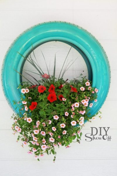 Tire planter kellyelko.com