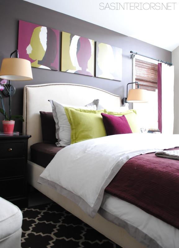 Colorful master bedroom kellyelko.com