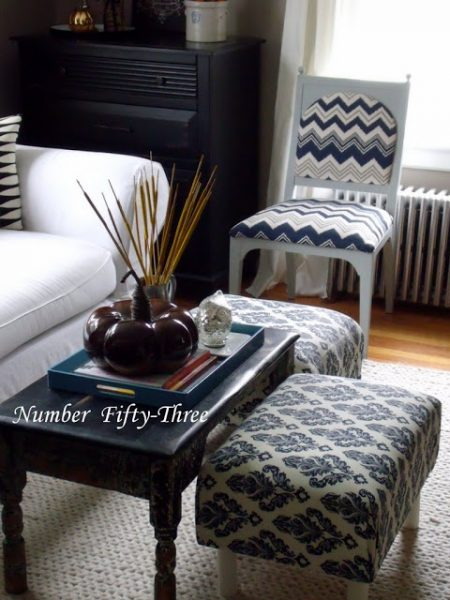 DIY ottoman makeover - from thrift shop find to like new kellyelko.com