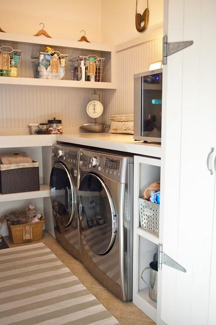 Organized laundry room kellyelko.com