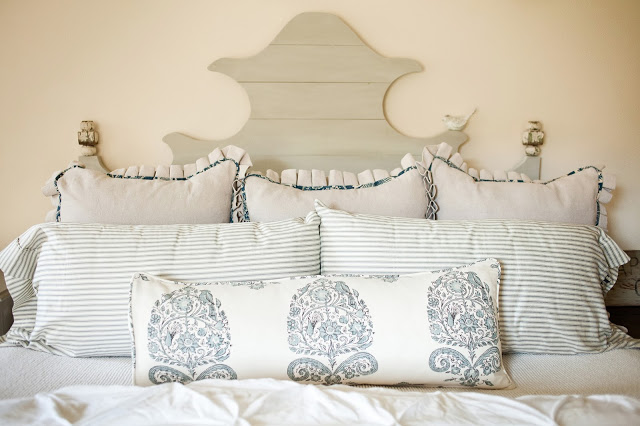 Ballard Designs knockoff bed - love the details right down to the little bird eclecticallyvintage.com