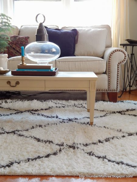 Love this inviting family room and that fun shag rug eclecticallyvintage.com
