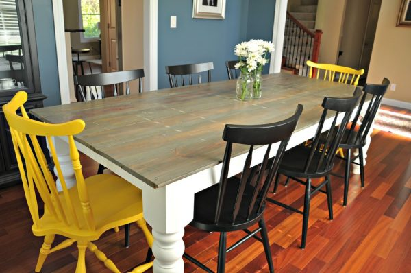 Make a farmhouse table eclecticallyvintage.com