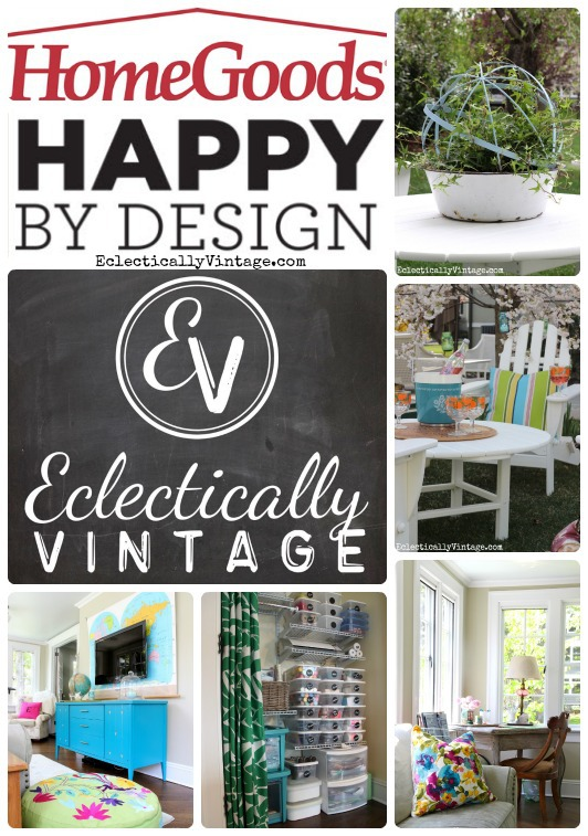 Eclectically Vintage is HomeGoods Happy - tons of great design ideas kellyelko.com