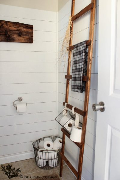 Bathroom ladder is perfect for storage eclecticallyvintage.com
