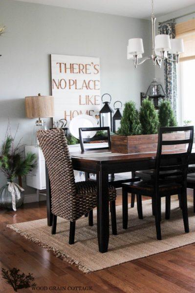 Farmhouse dining room - love the sign kellyelko.com