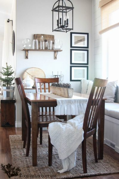 Beautiful dining room - love the built in window seat eclecticallyvintage.com