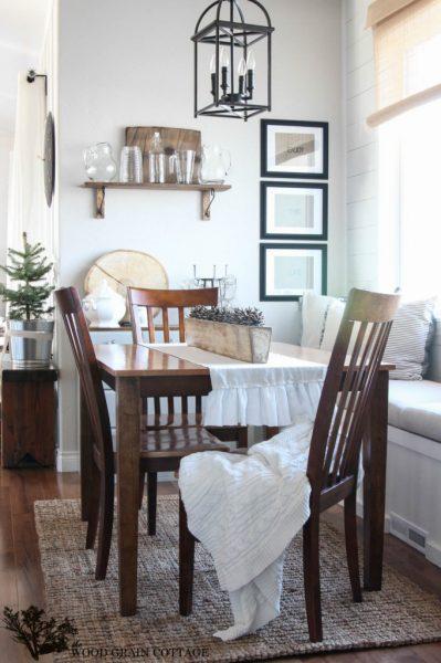 Beautiful dining room - love the built in window seat kellyelko.com