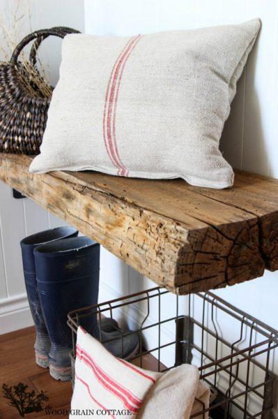 Make a floating wooden bench kellyelko.com