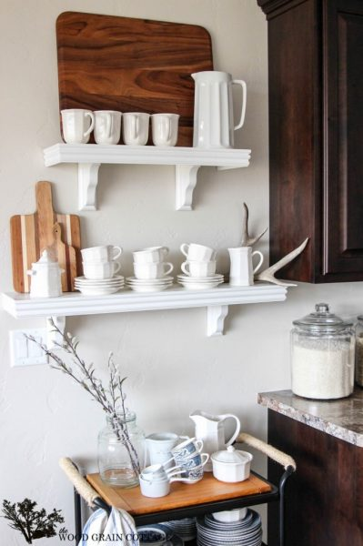 Open kitchen shelves - perfect for display eclecticallyvintage.com