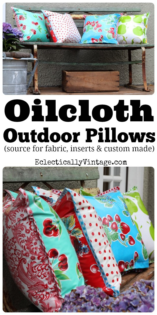 Oilcloth Fabric - Perfect for outdoors and a fun retro look! kellyelko.com
