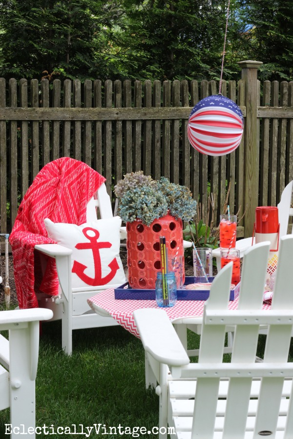 Patriotic party decorations eclecticallyvintage.com