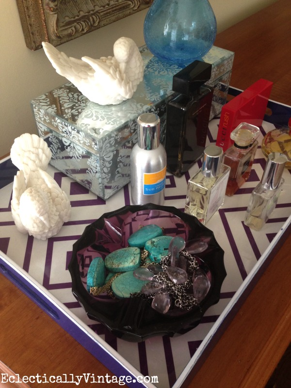 Corall your toiletries on a gorgeous tray kellyelko.com