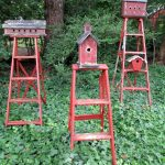 A trio of ladder birdhouses eclecticallyvintage.com