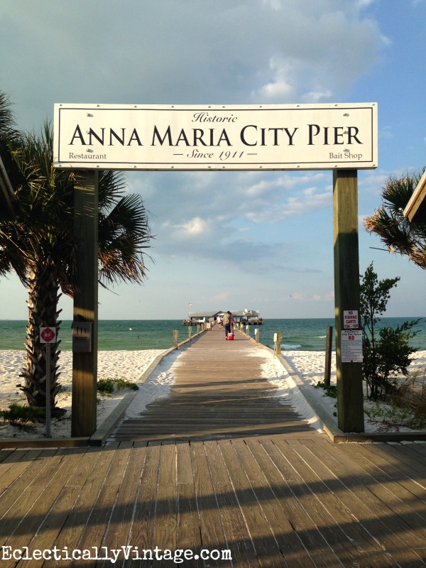 Anna Maria Island city pier eclecticallyvintage.com