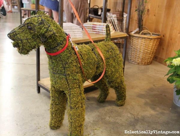 Dog topiary eclecticallyvintage.com