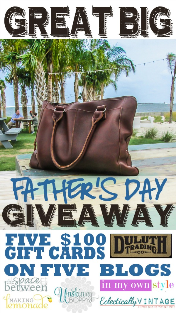 Duluth Trading Company Giveaway!  They have the best leather bags! eclecticallyvintage.com
