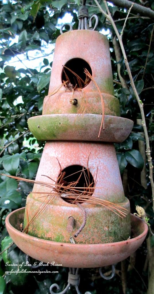 Terracotta pot birdhouse kellyelko.com