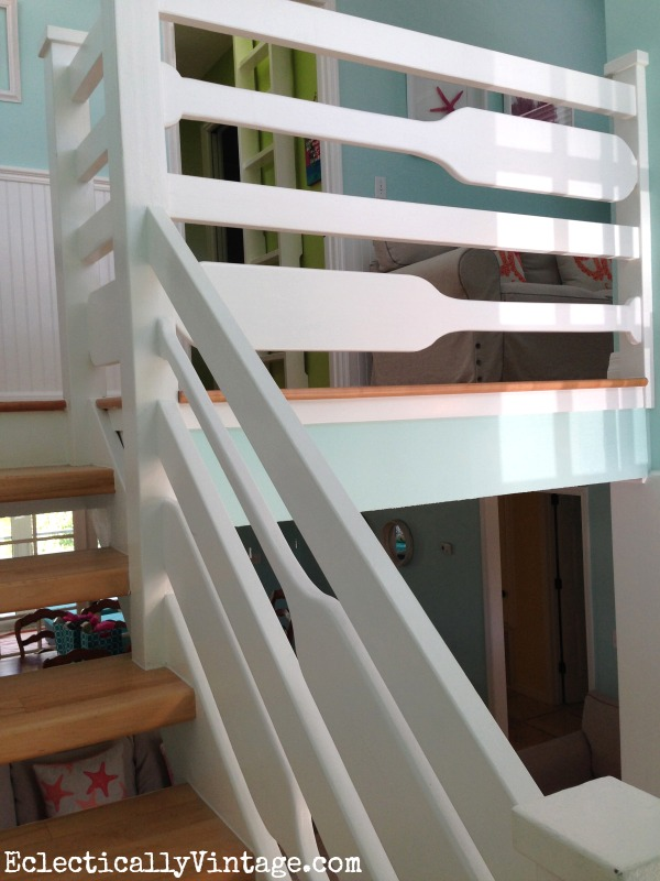 Oar stair railing eclecticallyvintage.com