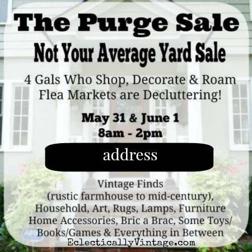 The Purge Sale - tips to get your yard sale noticed! kellyelko.com