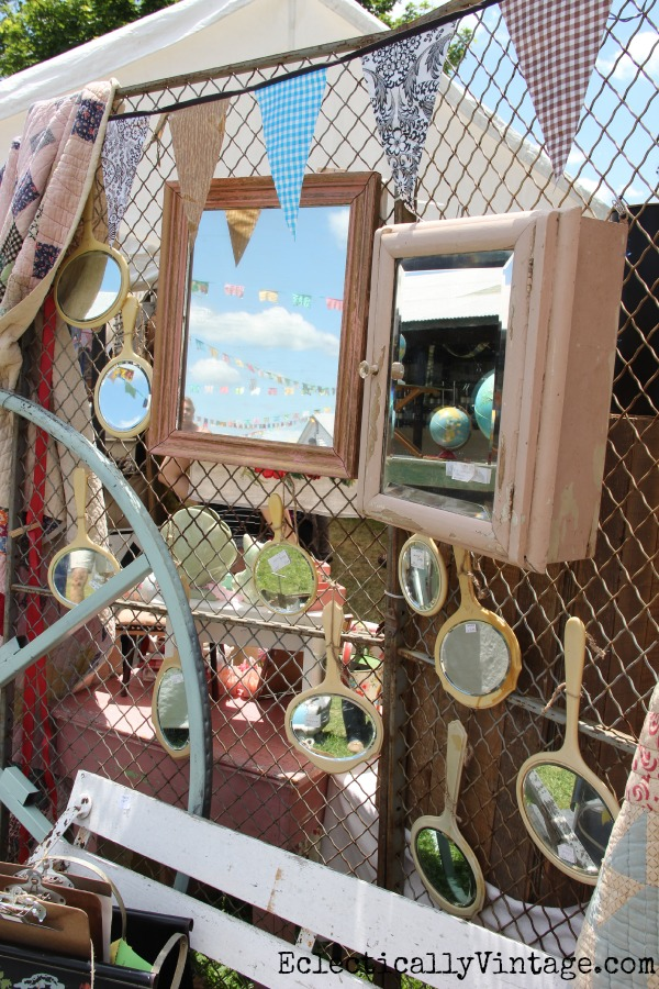 Vintage hand mirror collection eclecticallyvintage.com