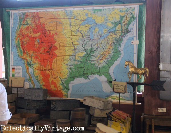 Vintage school map eclecticallyvintage.com
